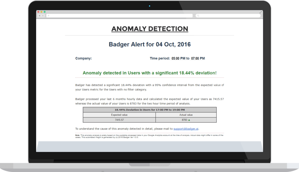 anomaly detection solutions - Service Offerings