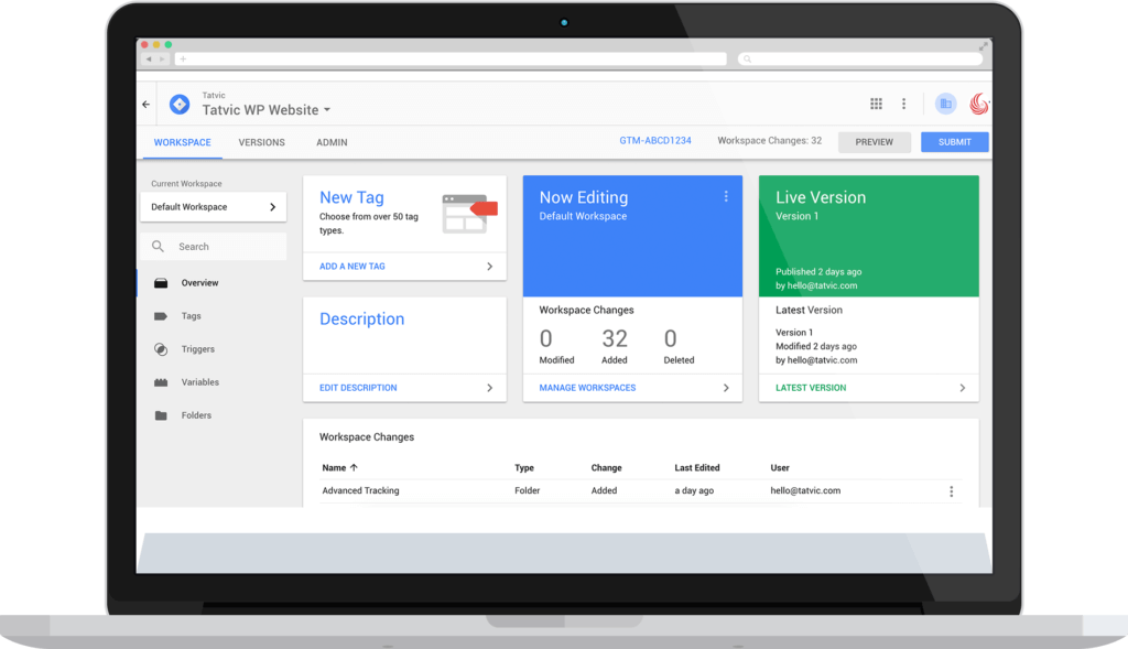 Implement tags for web analytics with Google Tag Manager 360 - Value Proposition